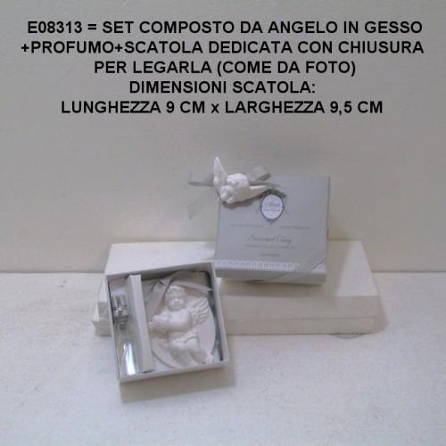 SET CON ANGELO IN GESSO E PROFUMO - PEZZI 6