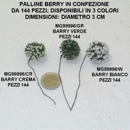 PALLINE BERRY PER CONFEZIONI DI BOMBONIERE - PEZZI 144