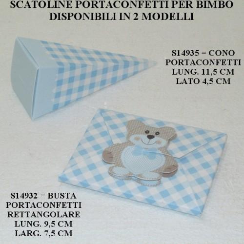 SCATOLINE PORTACONFETTI PER BIMBO - PEZZI 20