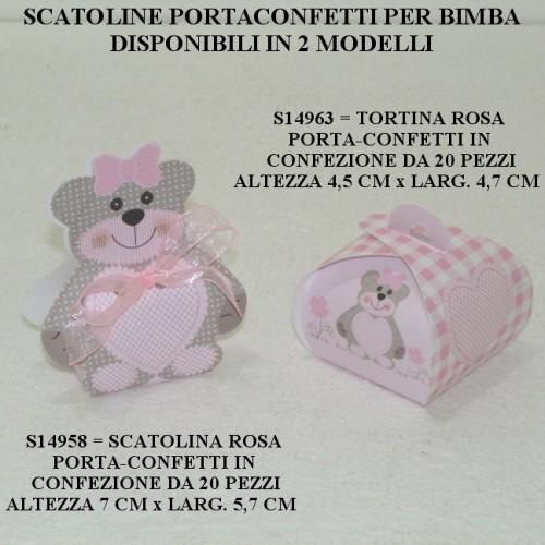 SCATOLINE PORTACONFETTI PER BIMBA - PEZZI 20