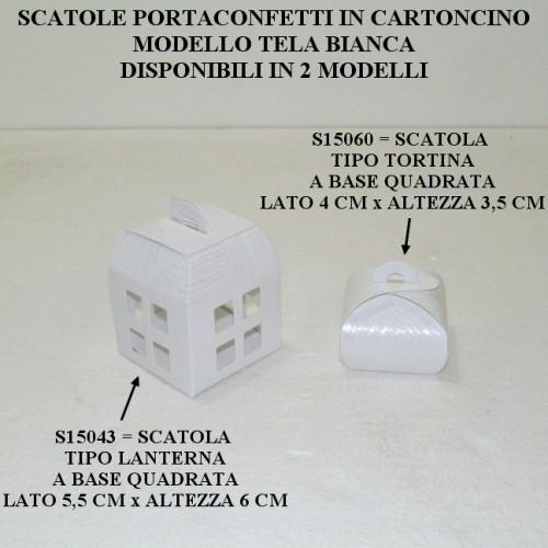 SCATOLINE PORTACONFETTI PER COMUNIONE - PEZZI 20