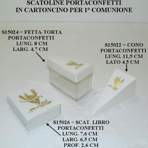 SCATOLINE PORTACONFETTI IN CARTONCINO PER PRIMA COMUNIONE - PEZZI 20