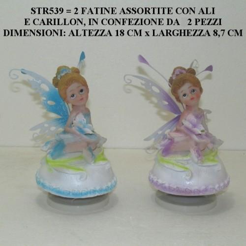 2 FATINE ASSORTITE CON CARILLON E ALI - PEZZI 2