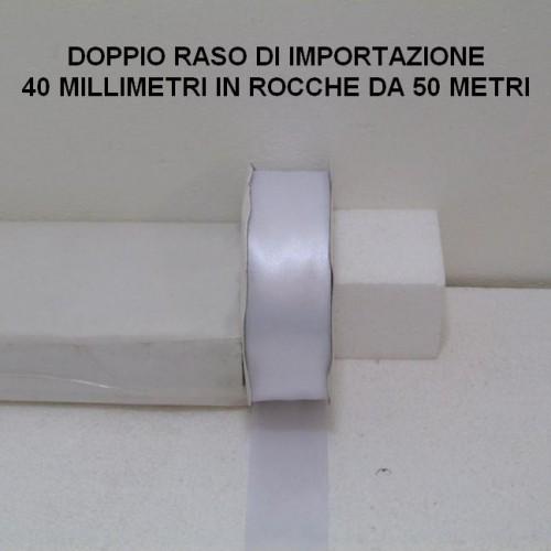 RASO ALTO 40 MILLIMETRI DI IMPORTAZIONE - 3 ROCCHE DA 50 METRI