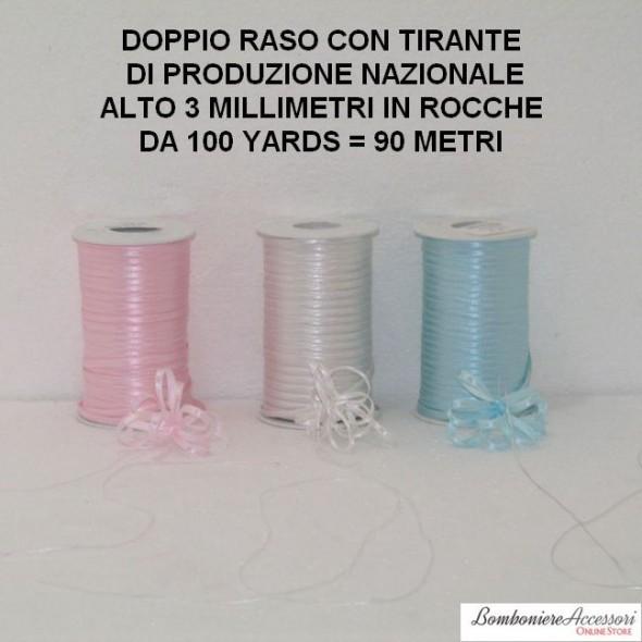 DOPPIO RASO CON TIRANTE ALTO 3 MILLIMETRI - 90 METRI