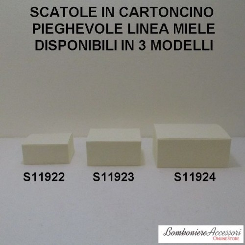 SCATOLE IN CARTONCINO DECORATO LINEA MIELE - PEZZI 10