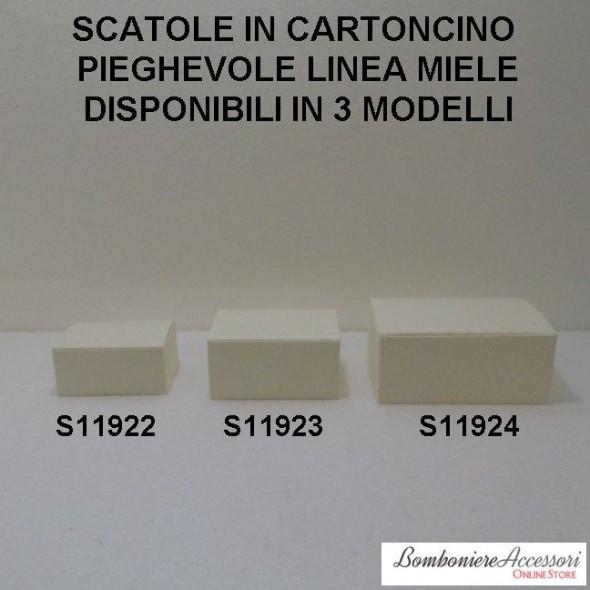 SCATOLE IN CARTONCINO DECORATO LINEA MIELE - PEZZI 10