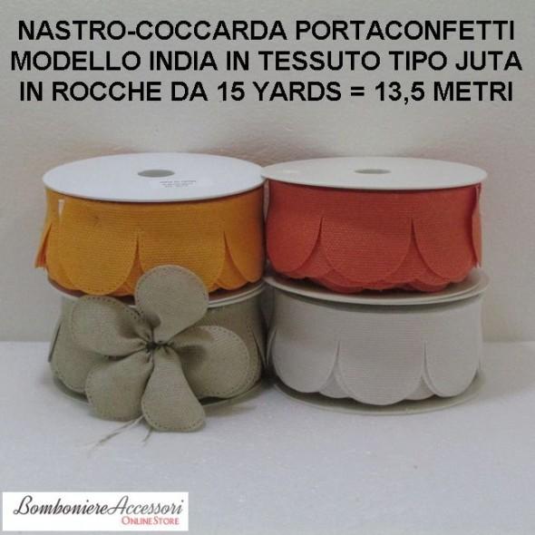 COCCARDA PORTACONFETTI MODELLO INDIA - METRI 13,5