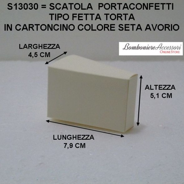 SCATOLA FETTA TORTA IN CARTONCINO - PEZZI 20
