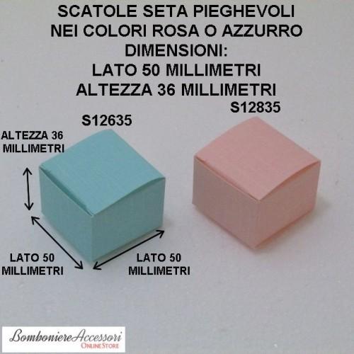 SCATOLINE BATTESIMO PER CONFETTI IN CARTONCINO PIEGHEVOLE - PEZZI 20