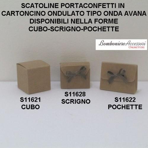SCATOLINE PORTACONFETTI IN CARTONCINO ONDULATO - PEZZI 20