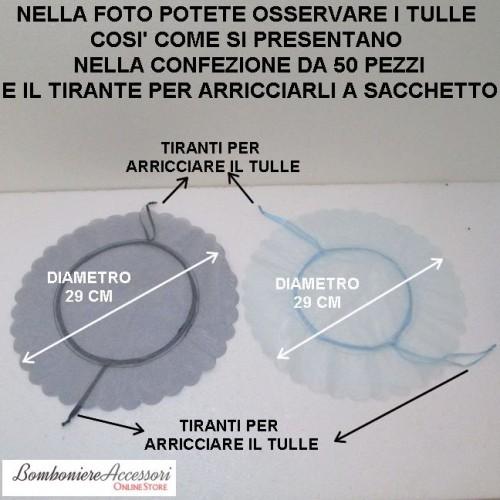 TULLE 2 VELI CON TIRANTE PER FORMARE IL SACCHETTO - PEZZI 50