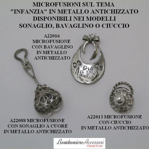MICROFUSIONI PER BEBE' IN METALLO ANTICHIZZATO