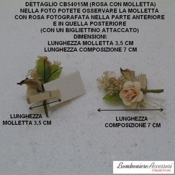Mollette in legno con fiori - Portafoto con molletta ...