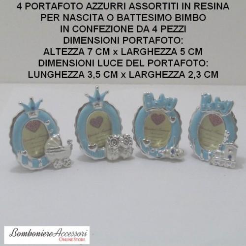 PORTAFOTO ASSORTITI PICCOLI IN RESINA - PEZZI 4