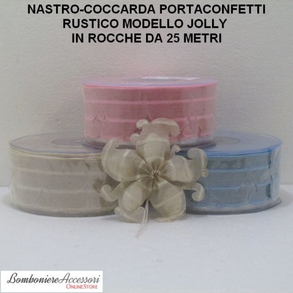 COCCARDA PORTACONFETTI MODELLO JOLLY - METRI 25