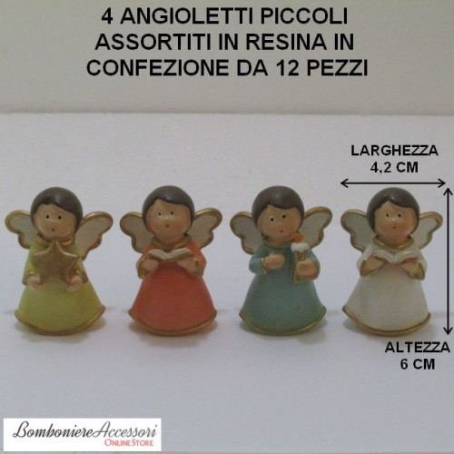 ANGIOLETTI PICCOLI ASSORTITI IN RESINA