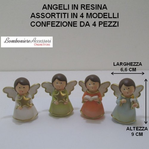 ANGELI ASSORTITI IN RESINA