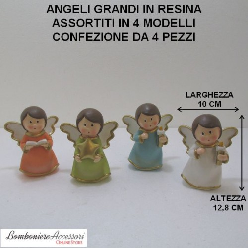 ANGELI GRANDI ASSORTITI IN RESINA