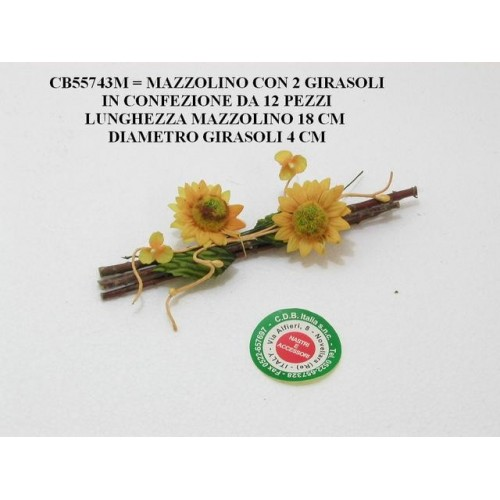MAZZOLINO CON 2 GIRASOLI