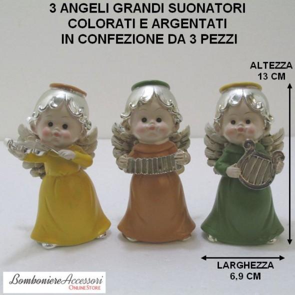 ANGELI SUONATORI GRANDI ARGENTATI