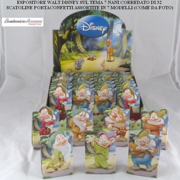 Bomboniere Matrimonio Walt Disney.Espositore Portaconfetti Walt Disney Sul Tema 7 Nani Con 32