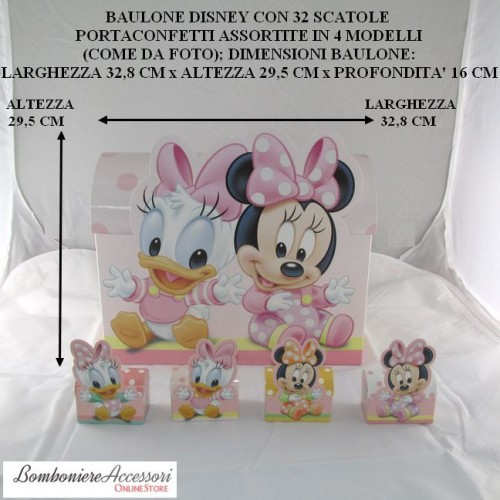 BAULONE DISNEY BABY CON 32 SCATOLINE ASSORTITE