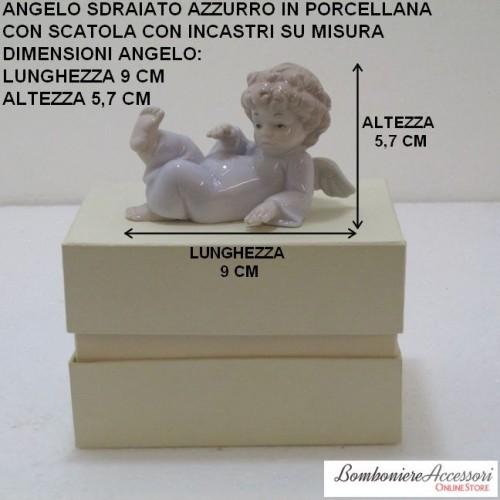 ANGELO SDRAIATO AZZURRO IN PORCELLANA CORREDATO DI SCATOLA
