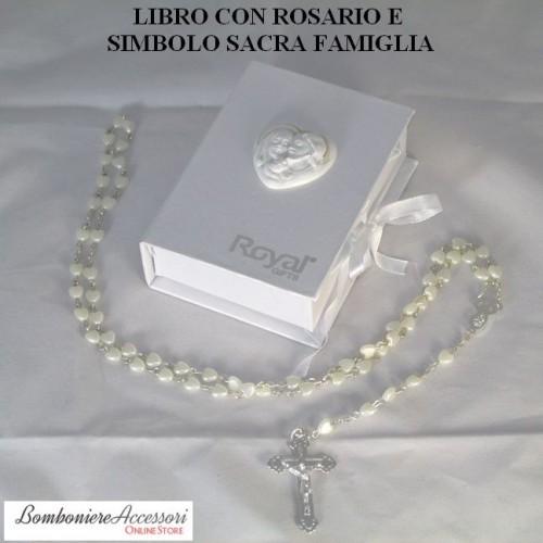 ROSARIO CON SCATOLA ED IMMAGINE DELLA SACRA FAMIGLIA