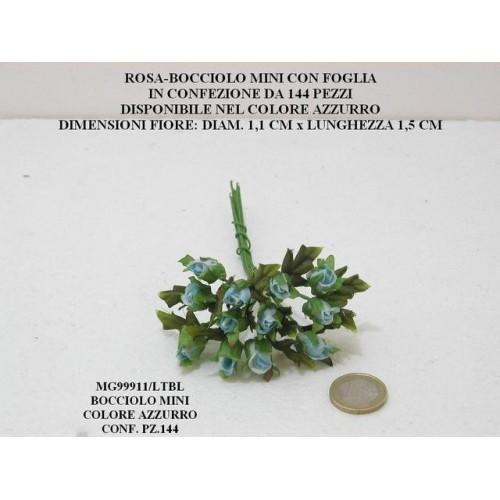ROSA BOCCIOLO MINI CON FOGLIA - PEZZI 144