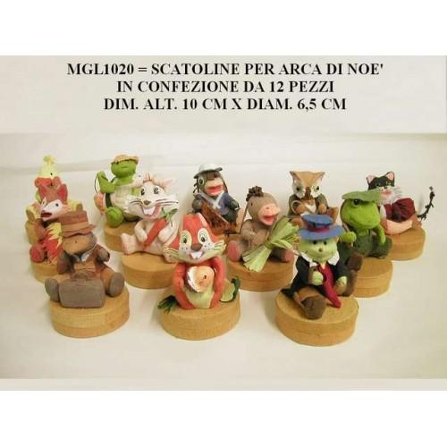 12 SCATOLINE ARCA DI NOE' PORTACONFETTI
