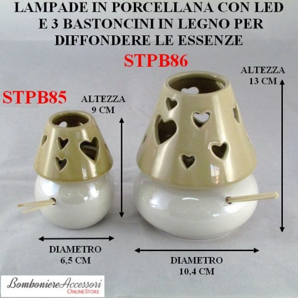 LAMPADA BAJOUR IN PORCELLANA CON PROFUMATORI