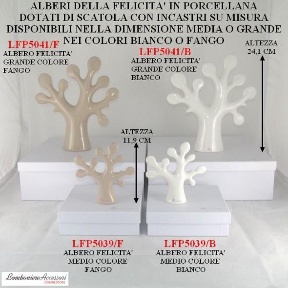 ALBERI DELLA FELICITA' IN PORCELLANA CON SCATOLA