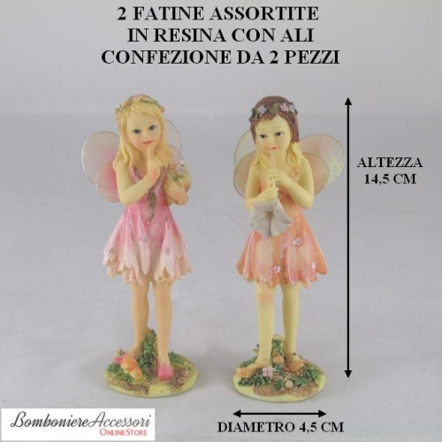 FATINE CON ALI ASSORTITE IN RESINA