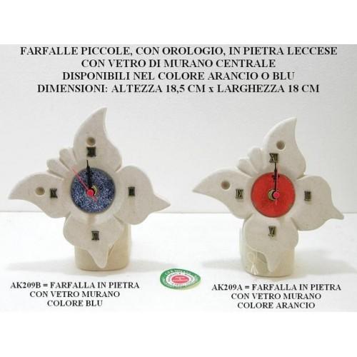 FARFALLE PICCOLE CON OROLOGIO E VETRO DI MURANO