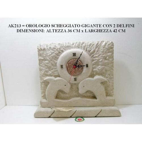 OROLOGIO SCHEGGIATO GIGANTE CON 2 DELFINI
