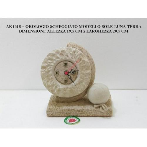 OROLOGIO SCHEGGIATO SOLE-LUNA-TERRA