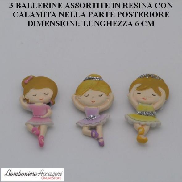 3 BALLERINE ASSORTITE CON CALAMITA POSTERIORE