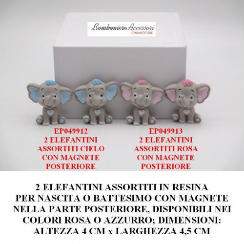 ELEFANTINI ASSORTITI IN 2 MODELLI IN RESINA CON MAGNETE
