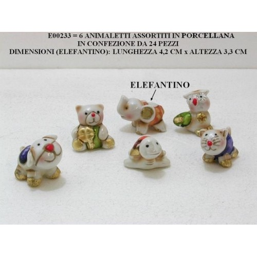 6 ANIMALETTI ASSORTITI IN PORCELLANA