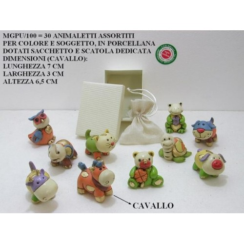 30 ANIMALETTI ASSORTITI IN PORCELLANA