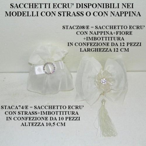 SACCHETTO IN TESSUTO NEL MODELLO CON STRASS - PEZZI 10