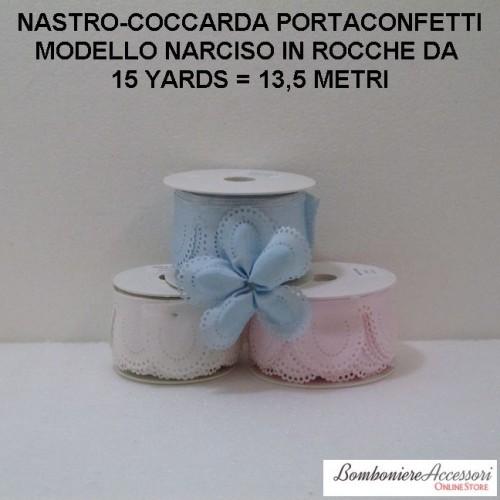 COCCARDA PORTACONFETTI MODELLO NARCISO - METRI 13,5