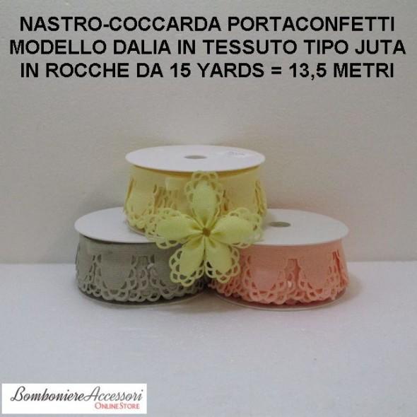 COCCARDA PORTACONFETTI MODELLO DALIA - METRI 13,5