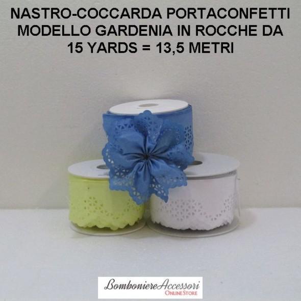 COCCARDA PORTACONFETTI MODELLO GARDENIA - METRI 13,5