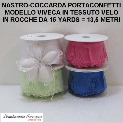 COCCARDA PORTACONFETTI MODELLO VIVECA - METRI 13,5