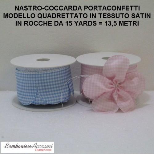 COCCARDA PORTACONFETTI PER BATTESIMO - METRI 13,5