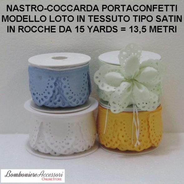 COCCARDA PORTACONFETTI MODELLO LOTO - METRI 13,5