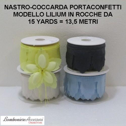 COCCARDA PORTACONFETTI MODELLO LILIUM IN VELO - METRI 13,5