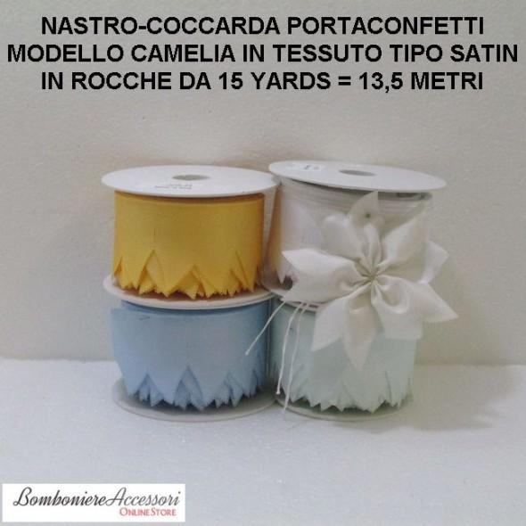 COCCARDA PORTACONFETTI MODELLO CAMELIA - METRI 13,5